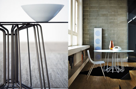Zanotta wire tables by arik levy yanko design pin greentooth Gallery