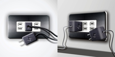 Velcro Wall Socket Conserves Energy