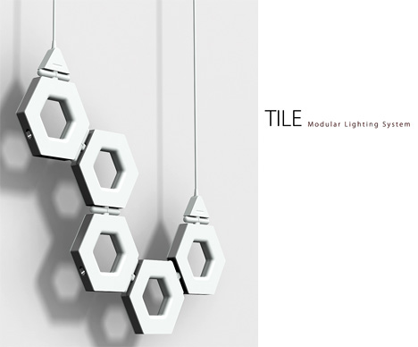Tile – Modular Lighting System by Gary Chang