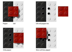 Reuse your Legos! Salt n' Pepper Shaker