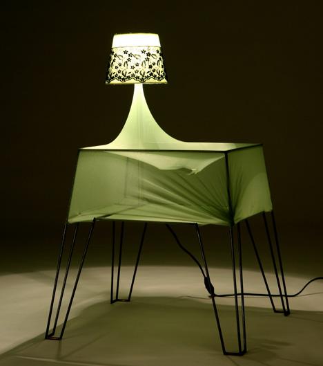 Bouncy Bedside Table by Ira Rozhavsky