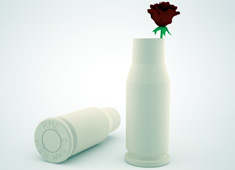 Remington Bullet Casing Vase