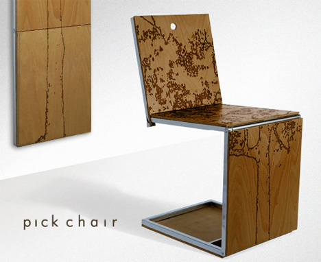 wall art chair yanko design