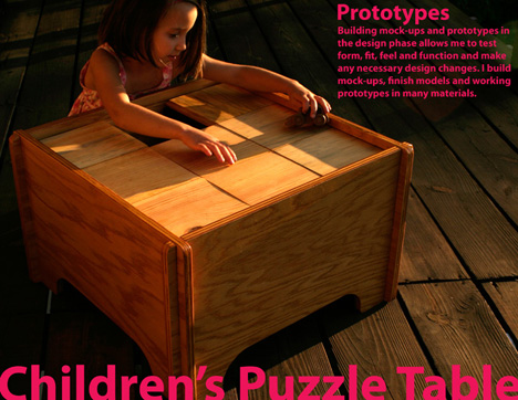 Puzzle Block Table