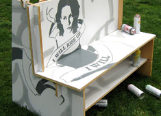Graffiti Bench Brings Out The Designer In You