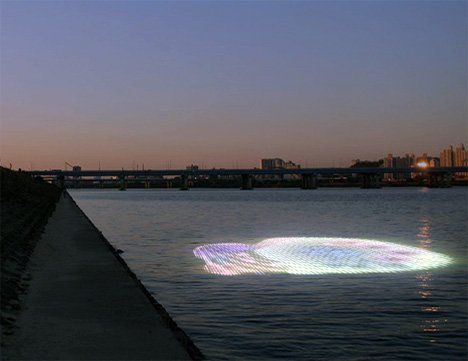 LED Light Show In Water
