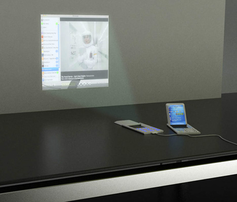 Lenovo's projector phone beams a touchscreen onto any surface
