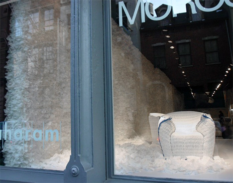 Moroso New York Store In All White
