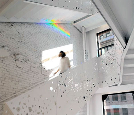 Rainbow Effect Stairwell