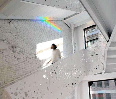 Rainbow Effect Stairwell