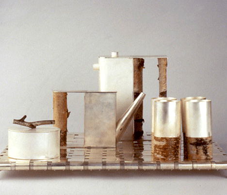 Birch-wood Coffee Set