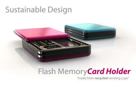 Sustainable Flash Memory Card Holder