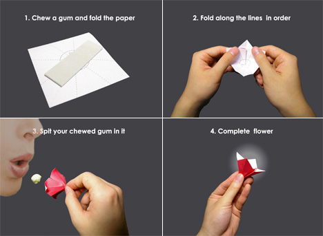 Save Your Gum, Make A Flower