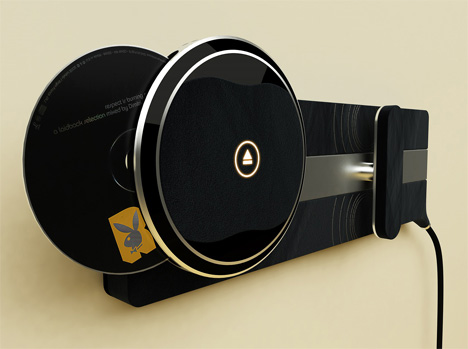 cd player concept even tho it s 2008 yanko design. Black Bedroom Furniture Sets. Home Design Ideas