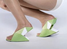 Flat Folded Shoe Is Like Easy Origami