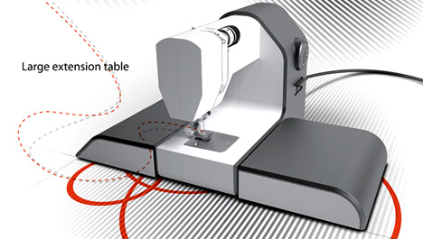 Sewing machine decor yanko design for Decor 99 sewing machine