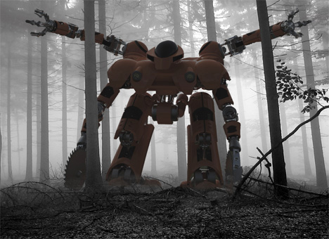 "Forest Fire ""Clear Cut"" Robot"