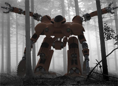 Forest Fire Clear Cut Robot