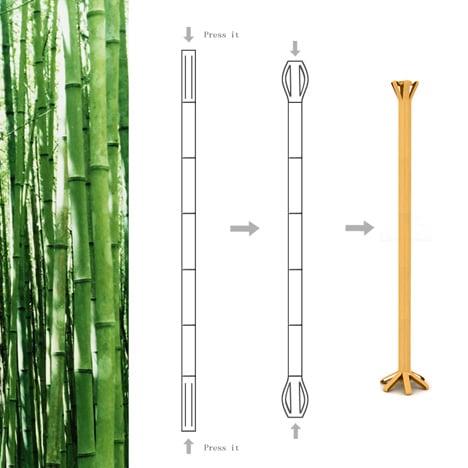 Como hacer un perchero de bambú.