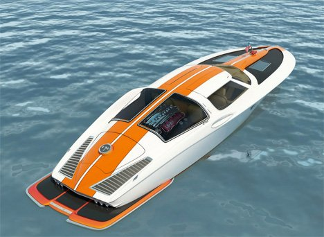 Corvette Stingray  on Corvette Stingray Inspired Boat By Bo Zolland    Yanko Design