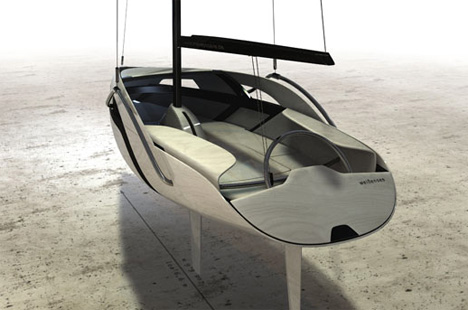Green Sailboat | Yanko Design