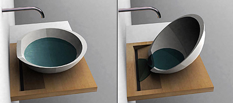 Designer Sink where's the hole? | yanko design