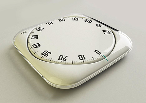 Weight scale with a spin
