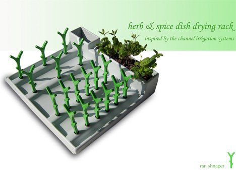 Herb Amp Spice With Dish Drying Too Yanko Design