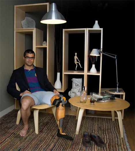 Eames Inspired Prosthetic Leg