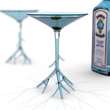 Bombay Sapphire Martini Glass Memoirs On A Rainy Day