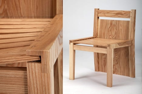 chubby brothers hidden chairs dining table | yanko design