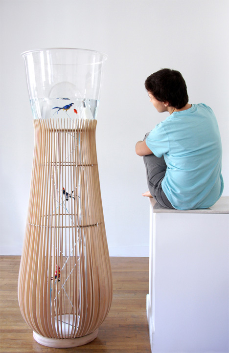 birds underwater and fish that fly yanko design. Black Bedroom Furniture Sets. Home Design Ideas
