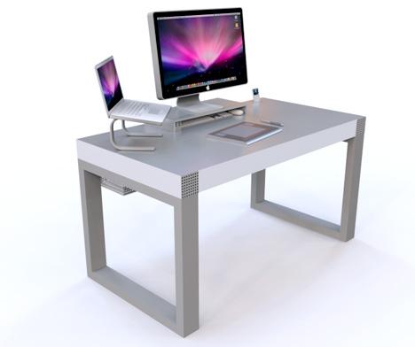 mac un bureau pour votre imac. Black Bedroom Furniture Sets. Home Design Ideas
