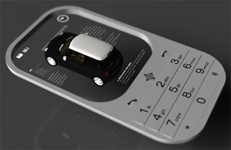 No Tangible Screen For this Mobile Phone | Yanko Design