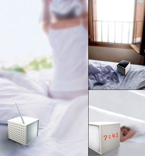 Magic Cube Solar Powered Clock-Lamp-Radio by Kai Yu