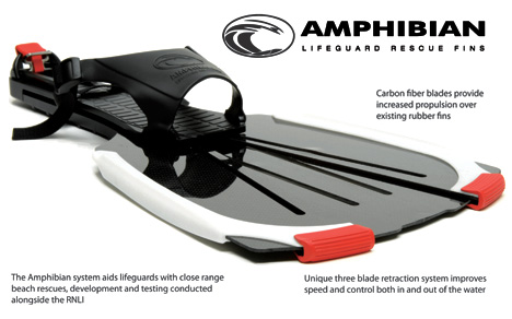 Amphibian Rapid Response Rescue Fins for Beach Lifeguards by Edward Shelton