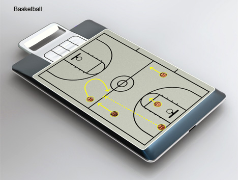 E-Ink Electronic Coach Playboard by Gordon Yeh for Iota Creations