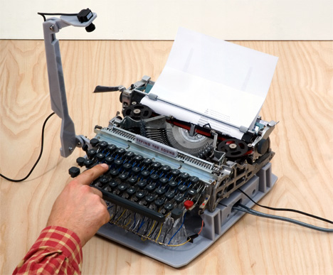 Typing The Sound, Musical Typewriter Project by Fabien Cappello with Yamaha