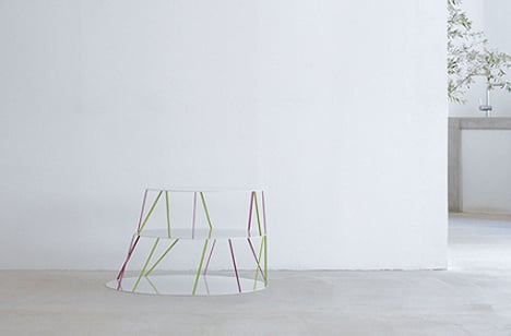 1915 Thin Steel Bar Table by Teruhiro Yanagihara of Isolation Unit 01
