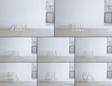 1915 Thin Steel Bar Table by Teruhiro Yanagihara of Isolation Unit 05