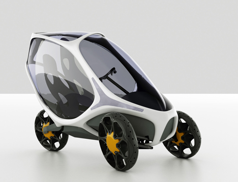 Electropositive Leaning Three Wheeled Electric Vehicle by Ionut Predescu 01