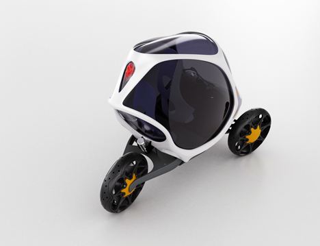 Electropositive Leaning Three Wheeled Electric Vehicle by Ionut Predescu 02