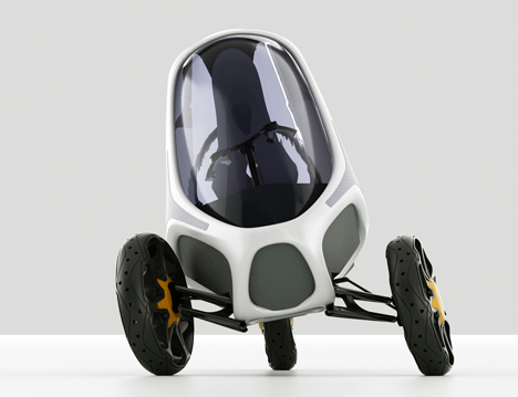 Electropositive Leaning Three Wheeled Electric Vehicle by Ionut Predescu 03