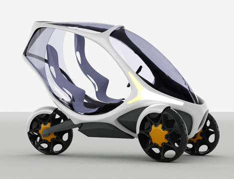 Electropositive Leaning Three Wheeled Electric Vehicle by Ionut Predescu 04