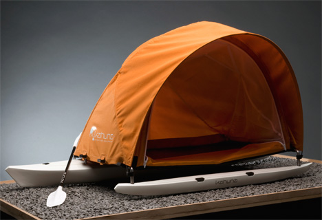 Kahuna Adventure Tent Kayak by Mario Weiss 2 & Tenting Up A Kayak | Yanko Design