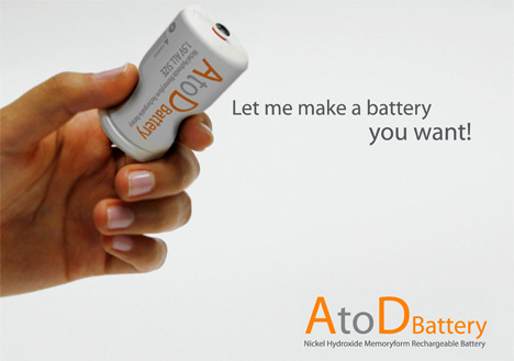 AtoD Rechargeable Battery by Pyeong Joo Goh, Jong Seung Choi & Ji Soo Hong