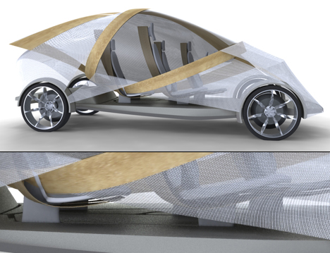 Futuristic Plywood and Resin Vehicle by Jonathon Henshall 01