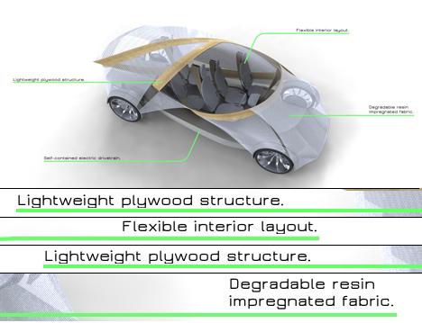 Futuristic Plywood and Resin Vehicle by Jonathon Henshall 02