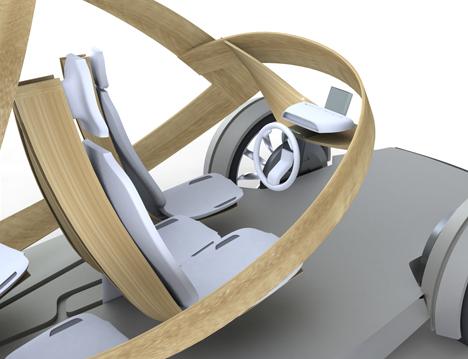 Futuristic Plywood and Resin Vehicle by Jonathon Henshall 03