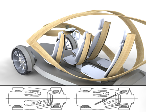 Futuristic Plywood and Resin Vehicle by Jonathon Henshall 04